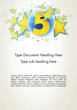 Five Years Celebration Word Template, Cover Page, 12069, Holiday/Special Occasion — PoweredTemplate.com