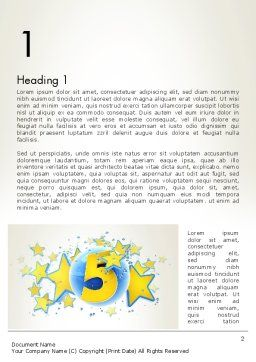 Five Years Celebration Word Template, First Inner Page, 12069, Holiday/Special Occasion — PoweredTemplate.com