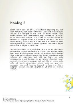 Five Years Celebration Word Template, Second Inner Page, 12069, Holiday/Special Occasion — PoweredTemplate.com