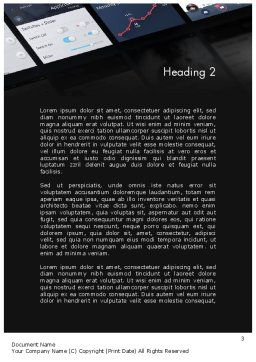 Smartphone Interface Design Word Template, Second Inner Page, 12070, Careers/Industry — PoweredTemplate.com