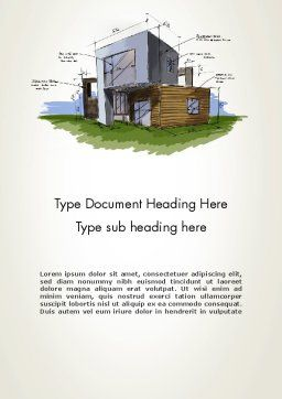 Concept Architecture Word Template, Cover Page, 12072, Construction — PoweredTemplate.com