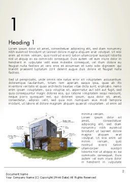 Concept Architecture Word Template, First Inner Page, 12072, Construction — PoweredTemplate.com