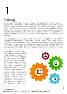 Colorful Cogs Word Template, First Inner Page, 12075, Education & Training — PoweredTemplate.com