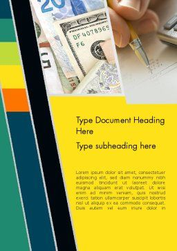 Bookkeeping Theme Word Template, Cover Page, 12076, Financial/Accounting — PoweredTemplate.com