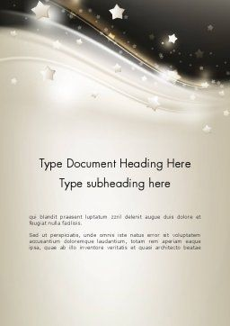Stars on Gray Theme Word Template, Cover Page, 12083, Holiday/Special Occasion — PoweredTemplate.com