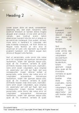 Stars on Gray Theme Word Template, Second Inner Page, 12083, Holiday/Special Occasion — PoweredTemplate.com