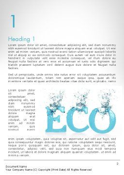 Water Ecology Word Template First Inner Page