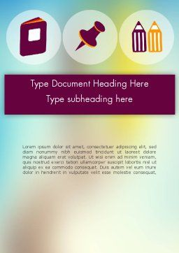 Presentation with Big Flat Icons Word Template Cover Page