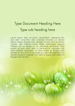 Easter Theme Word Template, Cover Page, 12100, Religious/Spiritual — PoweredTemplate.com
