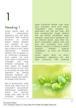 Easter Theme Word Template, First Inner Page, 12100, Religious/Spiritual — PoweredTemplate.com