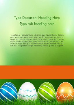 Painted Eggs Word Template, Cover Page, 12103, Holiday/Special Occasion — PoweredTemplate.com