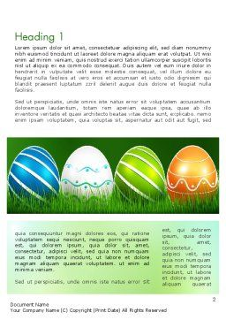Painted Eggs Word Template, First Inner Page, 12103, Holiday/Special Occasion — PoweredTemplate.com