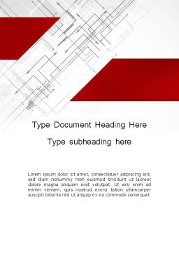Multi-Directional Arrows Word Template, Cover Page, 12106, Business Concepts — PoweredTemplate.com