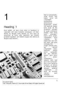 Technology Solutions Word Template, First Inner Page, 12108, 3D — PoweredTemplate.com