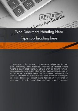 Loan Application Theme Word Template Cover Page