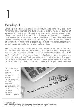Loan Application Theme Word Template First Inner Page