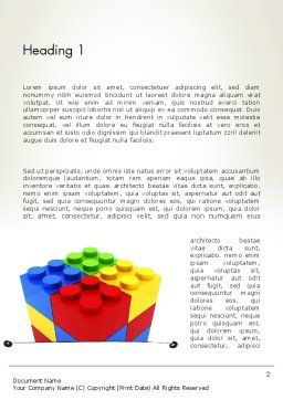 Stacked Lego Blocks Word Template, First Inner Page, 12116, Business Concepts — PoweredTemplate.com