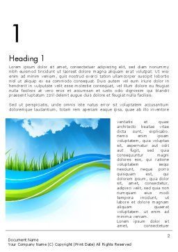 Clean Nature Word Template, First Inner Page, 12117, Nature & Environment — PoweredTemplate.com