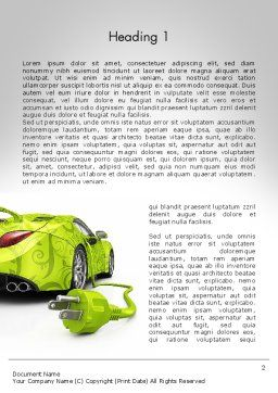 Green Automotive Innovations Word Template, First Inner Page, 12118, Cars/Transportation — PoweredTemplate.com