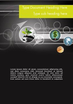 Business Incubator Word Template Cover Page
