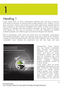 Business Incubator Word Template First Inner Page