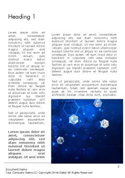 Network Concept with Hexagons Word Template, First Inner Page, 12121, Technology, Science & Computers — PoweredTemplate.com