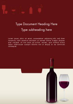 Wine Themed Word Template, Cover Page, 12139, Food & Beverage — PoweredTemplate.com