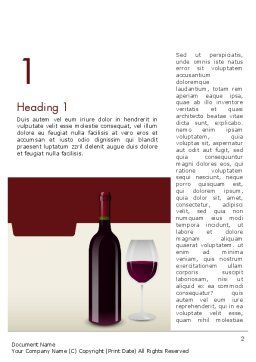 Wine Themed Word Template, First Inner Page, 12139, Food & Beverage — PoweredTemplate.com