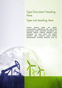 Renewable vs Nonrenewable Energy Word Template Cover Page
