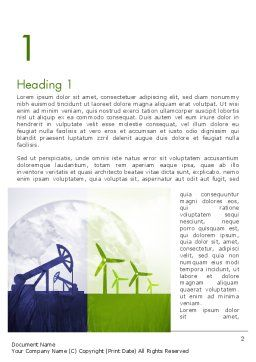Renewable vs Nonrenewable Energy Word Template First Inner Page