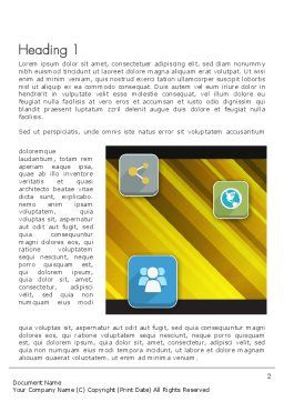 Communication and Social Networking Word Template, First Inner Page, 12143, Business Concepts — PoweredTemplate.com