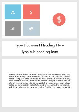 Minimalist Financial Presentation Word Template Cover Page