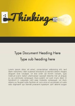 Thinking Concept Word Template Cover Page
