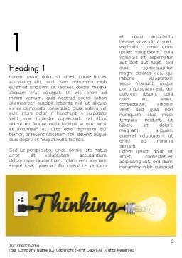 Thinking Concept Word Template First Inner Page