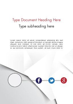 Minimal Company Presentation Word Template, Cover Page, 12148, Business — PoweredTemplate.com