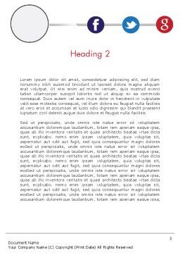 Minimal Company Presentation Word Template, Second Inner Page, 12148, Business — PoweredTemplate.com