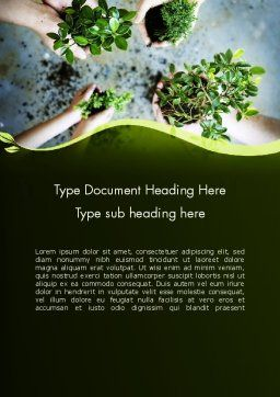Biotechnology Word Template, Cover Page, 12149, Nature & Environment — PoweredTemplate.com
