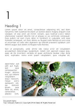 Biotechnology Word Template, First Inner Page, 12149, Nature & Environment — PoweredTemplate.com