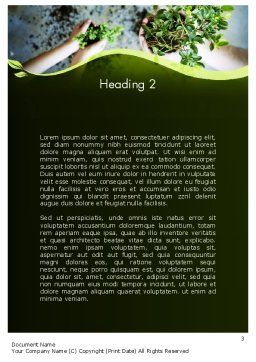 Biotechnology Word Template, Second Inner Page, 12149, Nature & Environment — PoweredTemplate.com