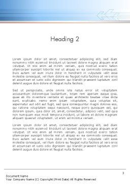 Business Oriented Word Template, Second Inner Page, 12152, Business — PoweredTemplate.com