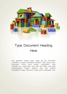 Real Estate Investing Word Template Cover Page