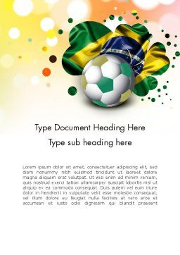 Love Brazil Word Template, Cover Page, 12157, Holiday/Special Occasion — PoweredTemplate.com