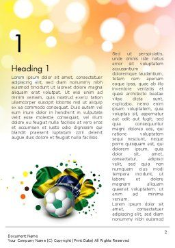 Love Brazil Word Template, First Inner Page, 12157, Holiday/Special Occasion — PoweredTemplate.com