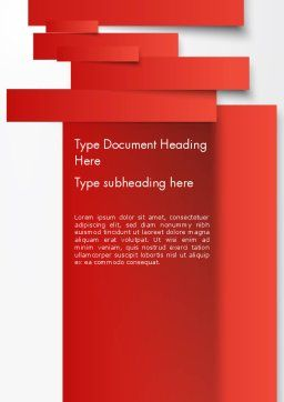 Cut Strips of Red Paper Word Template, Cover Page, 12162, Business Concepts — PoweredTemplate.com