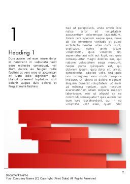 Cut Strips of Red Paper Word Template, First Inner Page, 12162, Business Concepts — PoweredTemplate.com