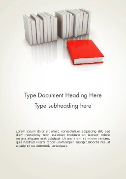 Books Development Word Template., Cover Page, 12166, Careers/Industry — PoweredTemplate.com