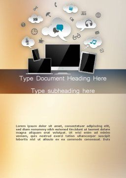 Media Content Word Template Cover Page