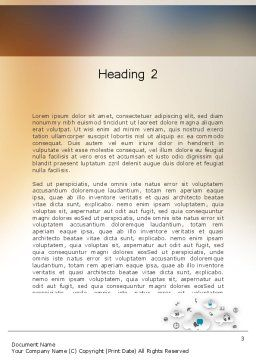 Media Content Word Template Second Inner Page