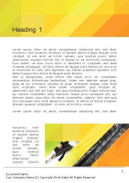 Orange Lemon Business Background Word Template, First Inner Page, 12169, Business — PoweredTemplate.com