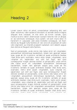 Orange Lemon Business Background Word Template, Second Inner Page, 12169, Business — PoweredTemplate.com